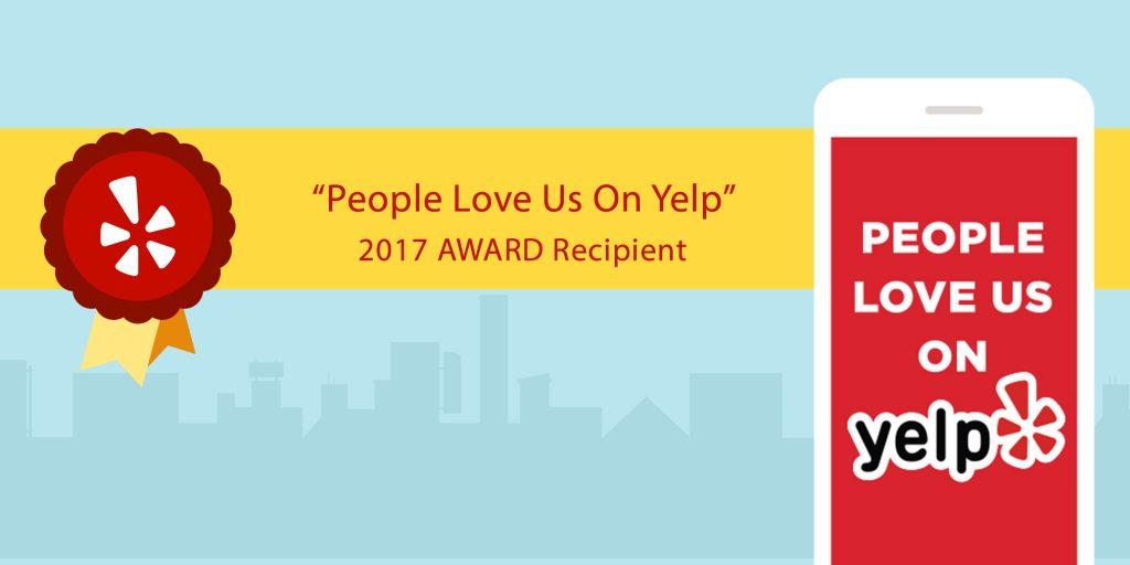 Yelp Award Banner
